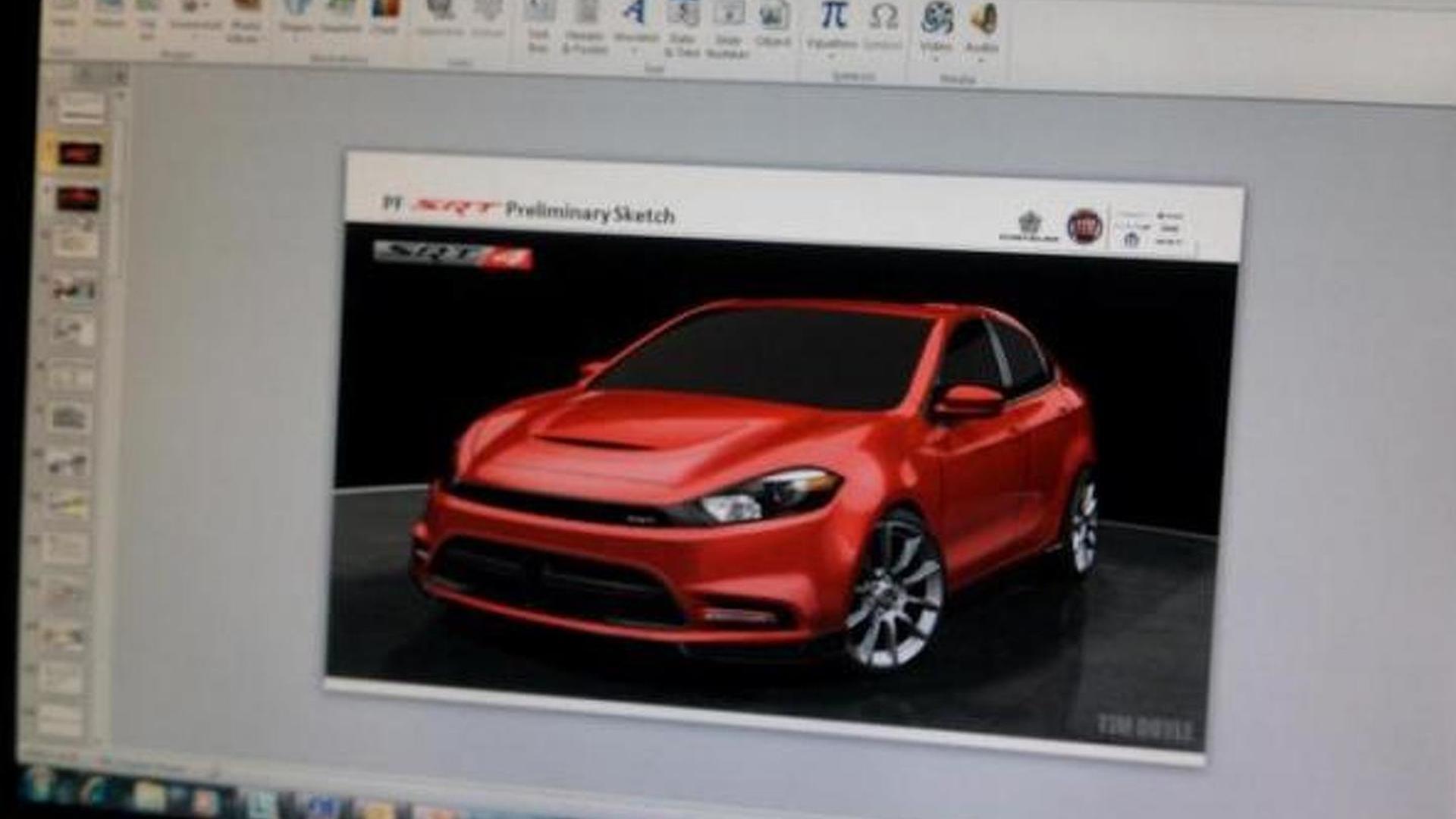 2014 Dodge Dart SRT4 preliminary sketch leaked
