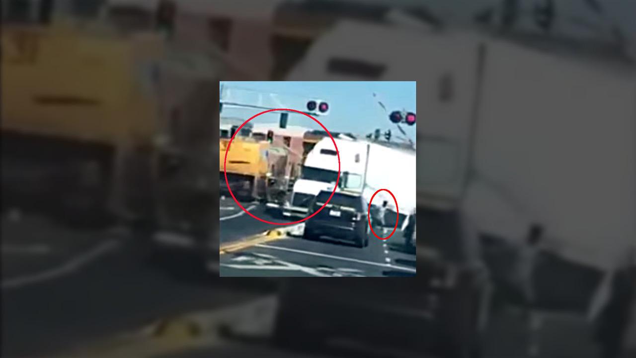Train Truck Crash