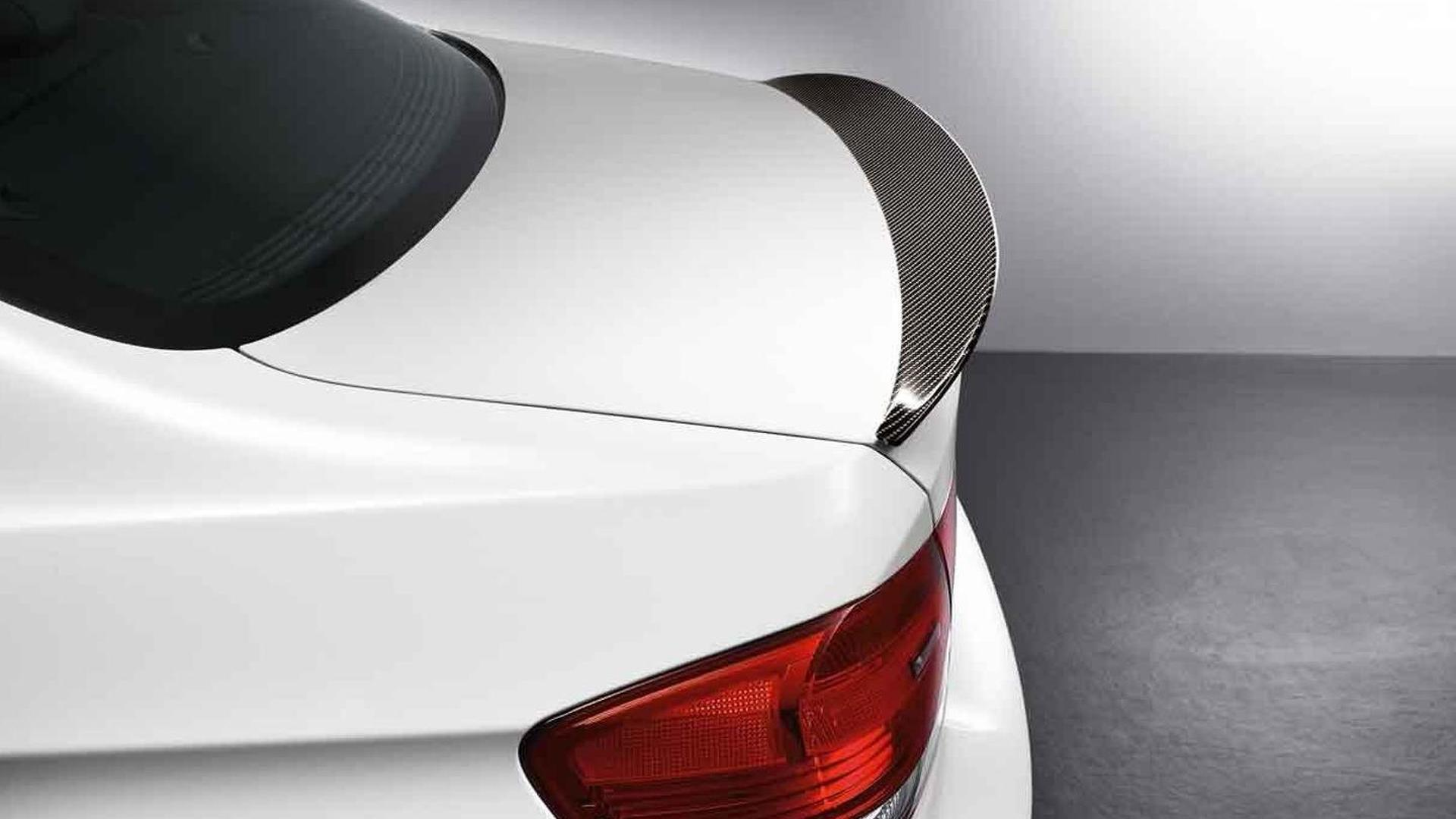 BMW Performance carbon fiber aerodynamic accessories for M3