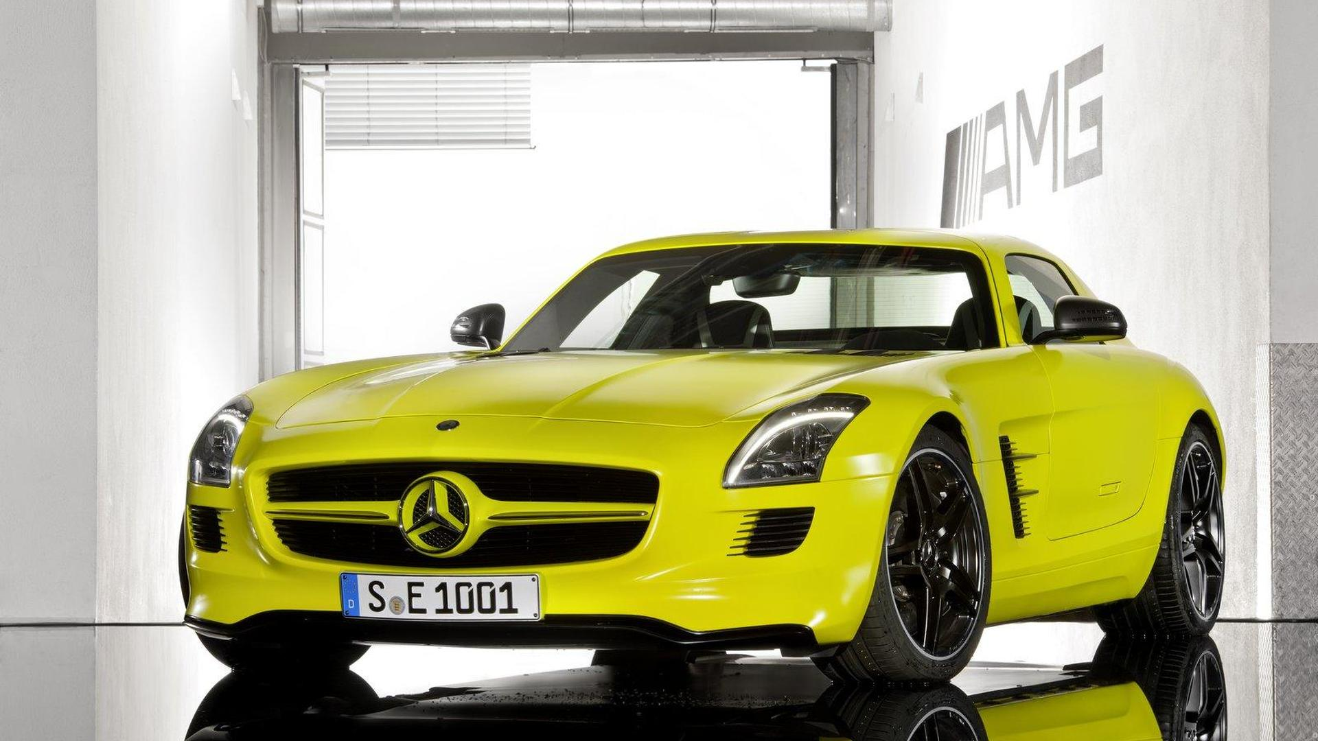 Mercedes SLS AMG E-Cell previews more electric AMG models