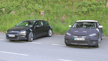 2011 Hyundai Veloster Spied next to VW Scirocco