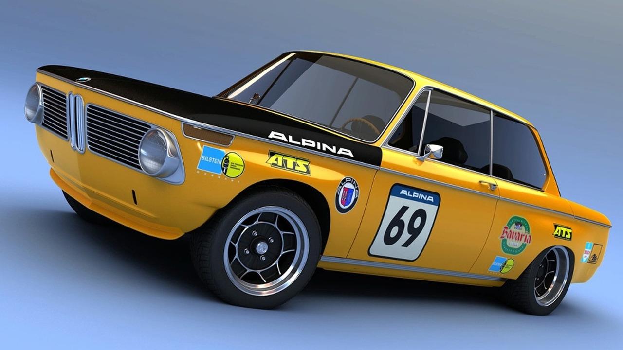 BMW 2002ti Alpina 3D rendering
