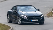 Mercedes-Benz S-Class Cabriolet spied with minimal camouflage