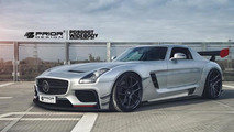 Mercedes SLS AMG gets an aggressive widebody kit from Prior Design
