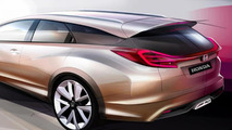 Honda Civic Wagon concept heading to Geneva Motor Show - teaser