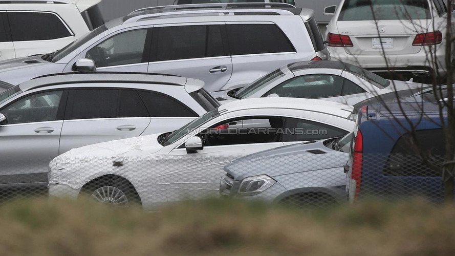 Mercedes-Benz C-Class Coupe spied with very little camo