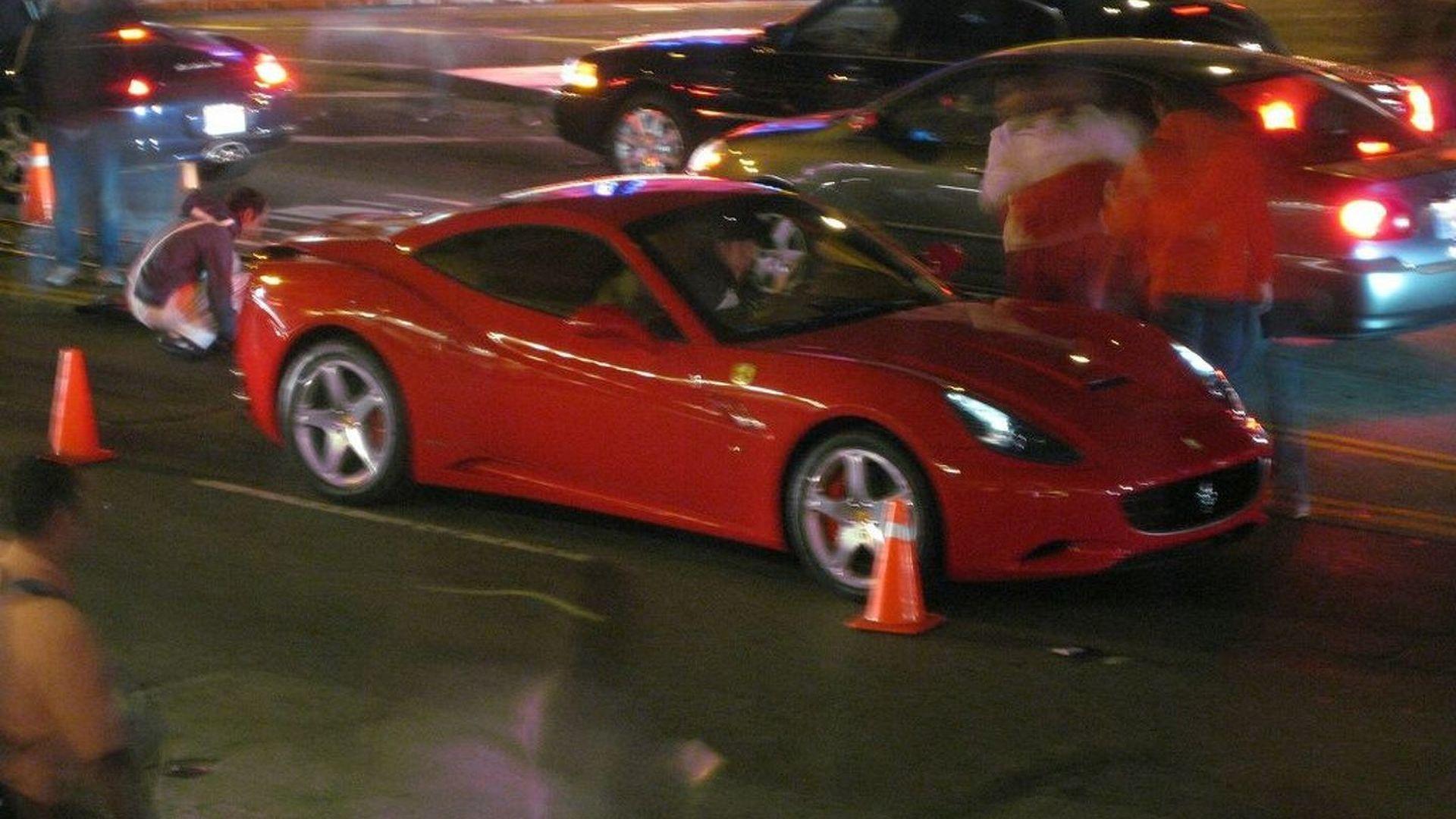 Ferrari California Caught During a Promotional Photo Shoot