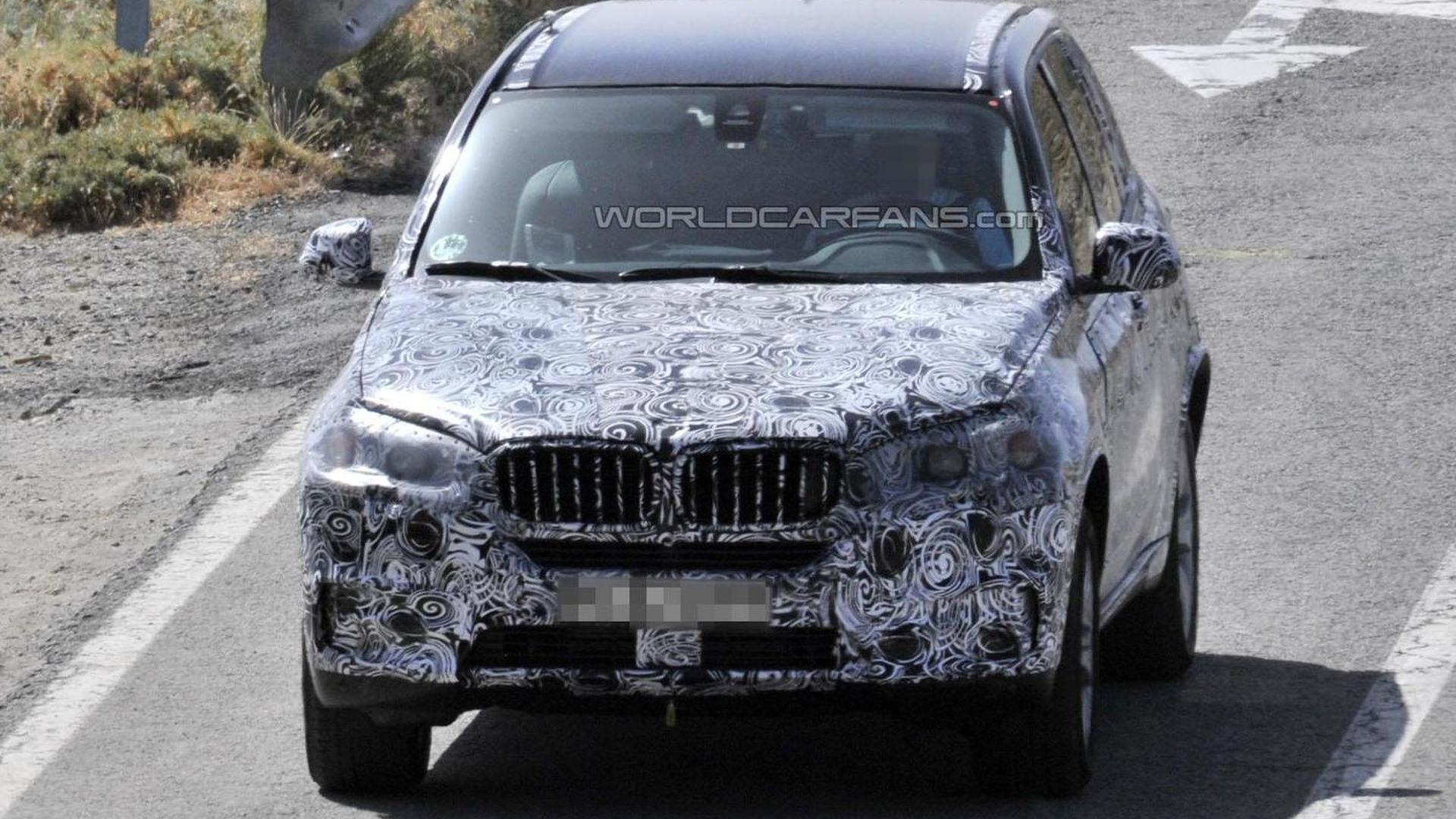 2014 BMW X5 spied with less camouflage