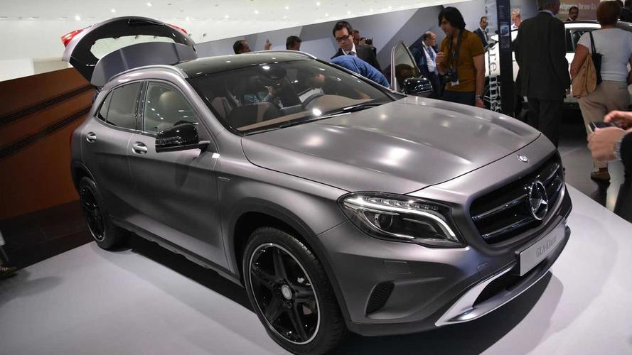 2014 Mercedes-Benz GLA shown in the metal at Frankfurt Motor Show