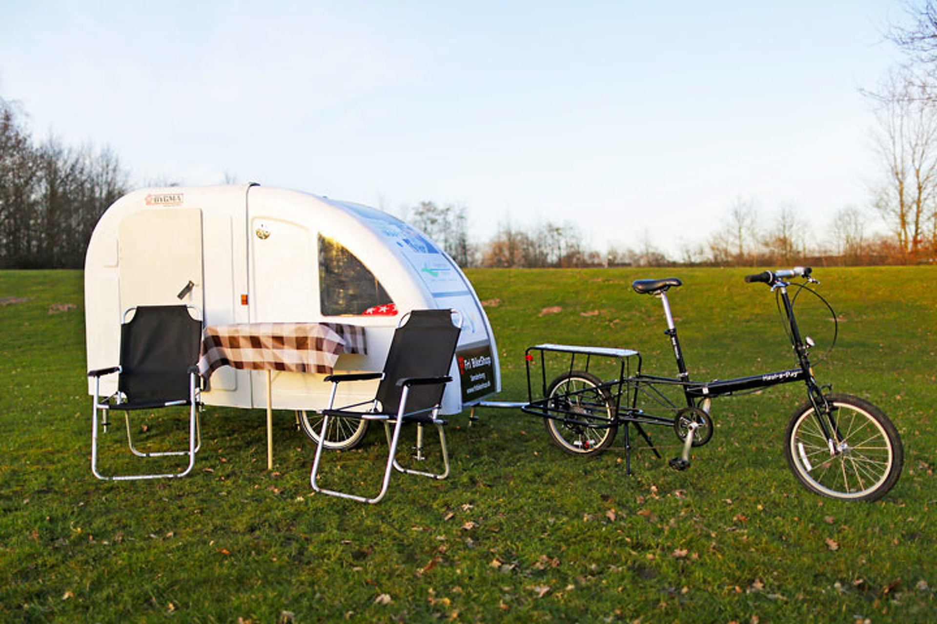 You Can Pull This Teeny Camping Trailer With a Bicycle