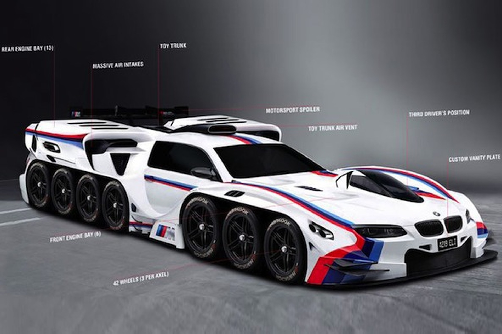 42-Wheeled BMW Concept is One Four-Year-Old's Dream