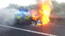 UK police BMW 530d in flames
