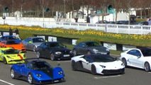 Zonda PS, Aventadors, 911s and many more in amazing supercar parade at Goodwood [video]