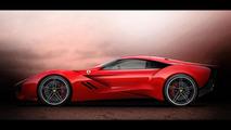Ferrari CascoRosso rendering 09.12.2013