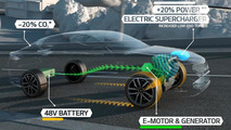 Kia Optima T-Hybrid diesel-electric concept introduced in Paris with electric supercharger