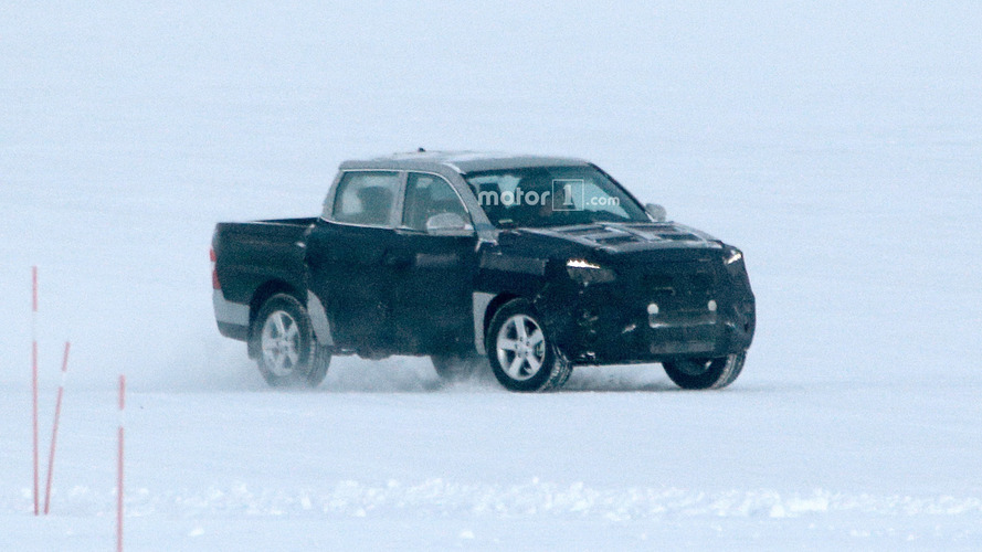 New Ssangyong Actyon Sports spied testing for first time