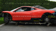 Ferrari F450 Mule Caught Undisguised and Immobilized