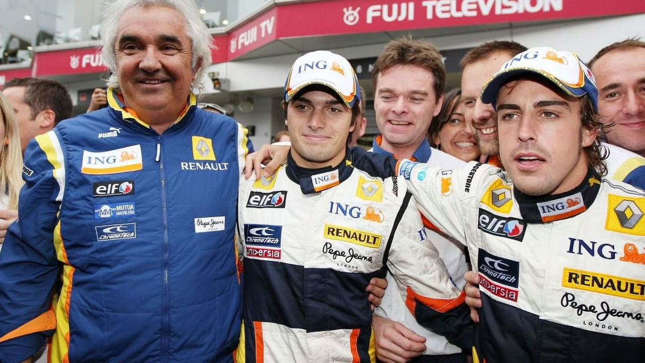 Flavio Briatore, Nelson Piquet Jr, Fernando Alonso, Japanese Grand Prix 12.10.2008