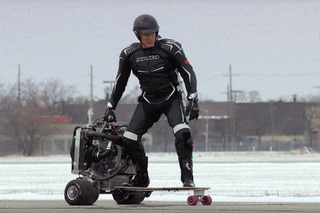 Watch Dolph Lundgren Ride a Ford EcoBoost-Powered Skateboard