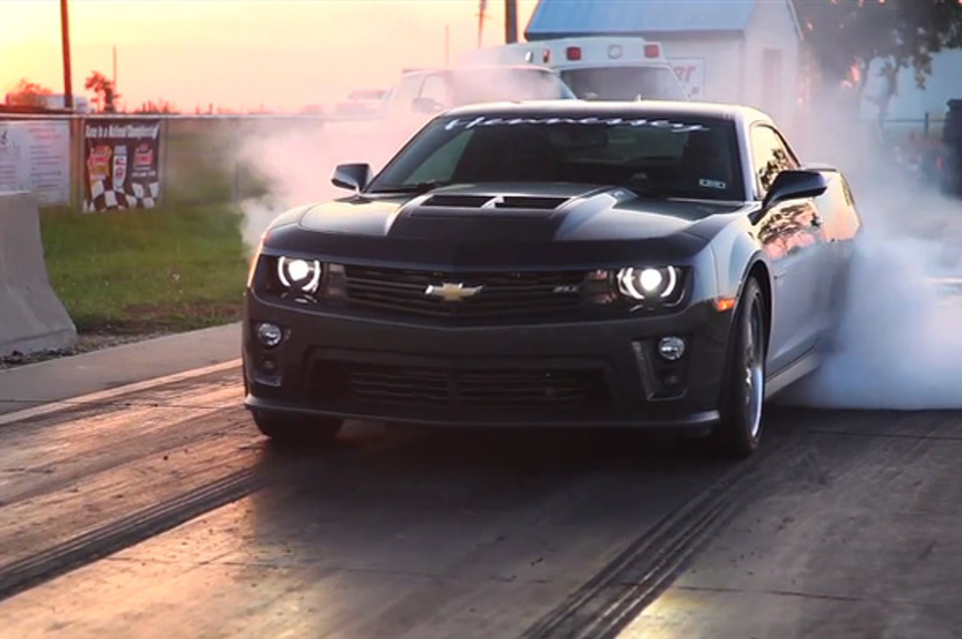 The 700 Hp Hennessey Hpe Camaro Zl1 Eats Tires Expels Smoke