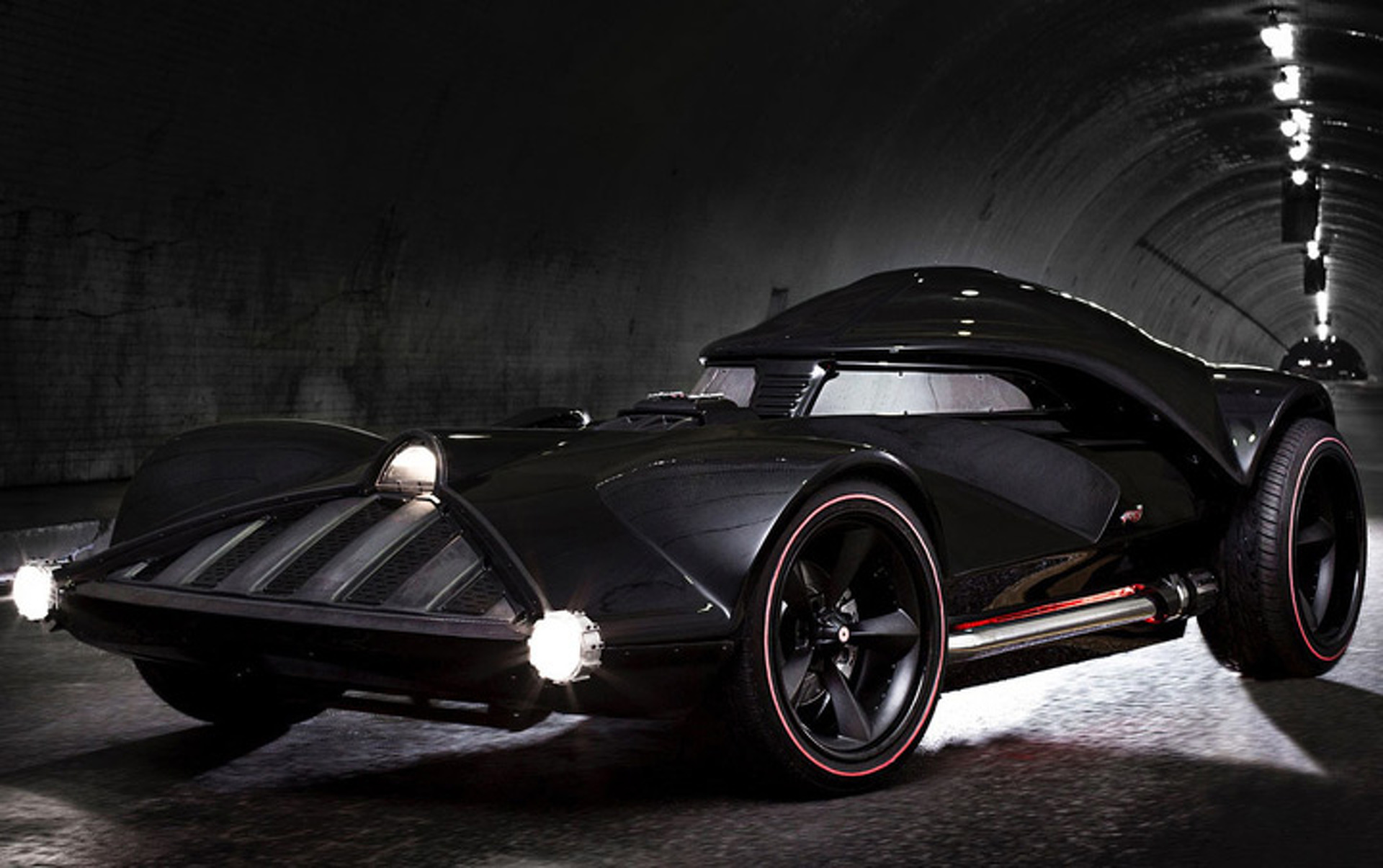 Embrace the Dark Side with this Full-Size Darth Vader Car [Video]
