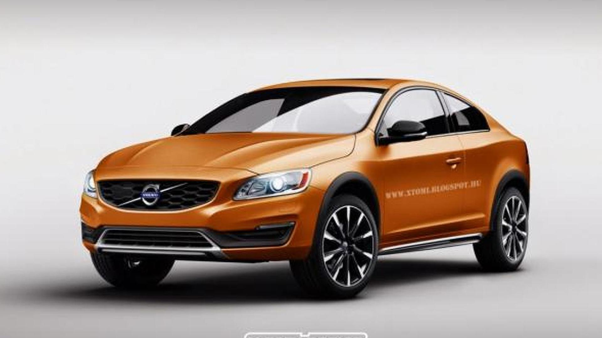 Volvo S60 Cross Country rendered as a two-door coupe