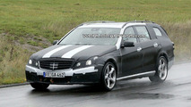2010 Mercedes E63 AMG wagon spy photos