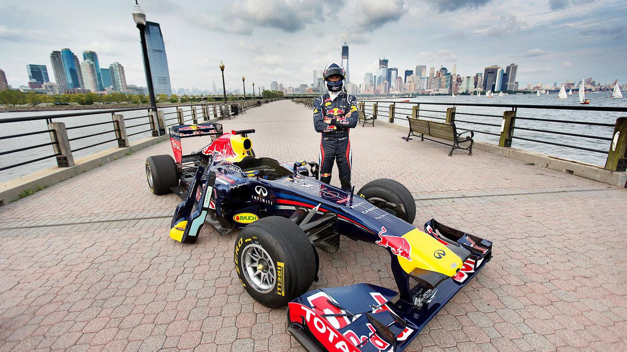 David Coulthard, Red Bull Show Run, Jersey City, NJ, 14.08.2012