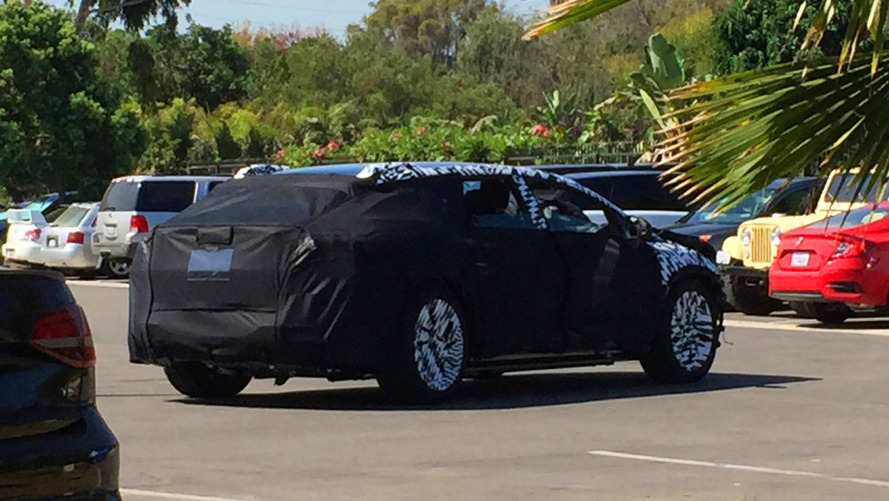 Faraday Future test mule spotted looking like a Tesla Model X fighter