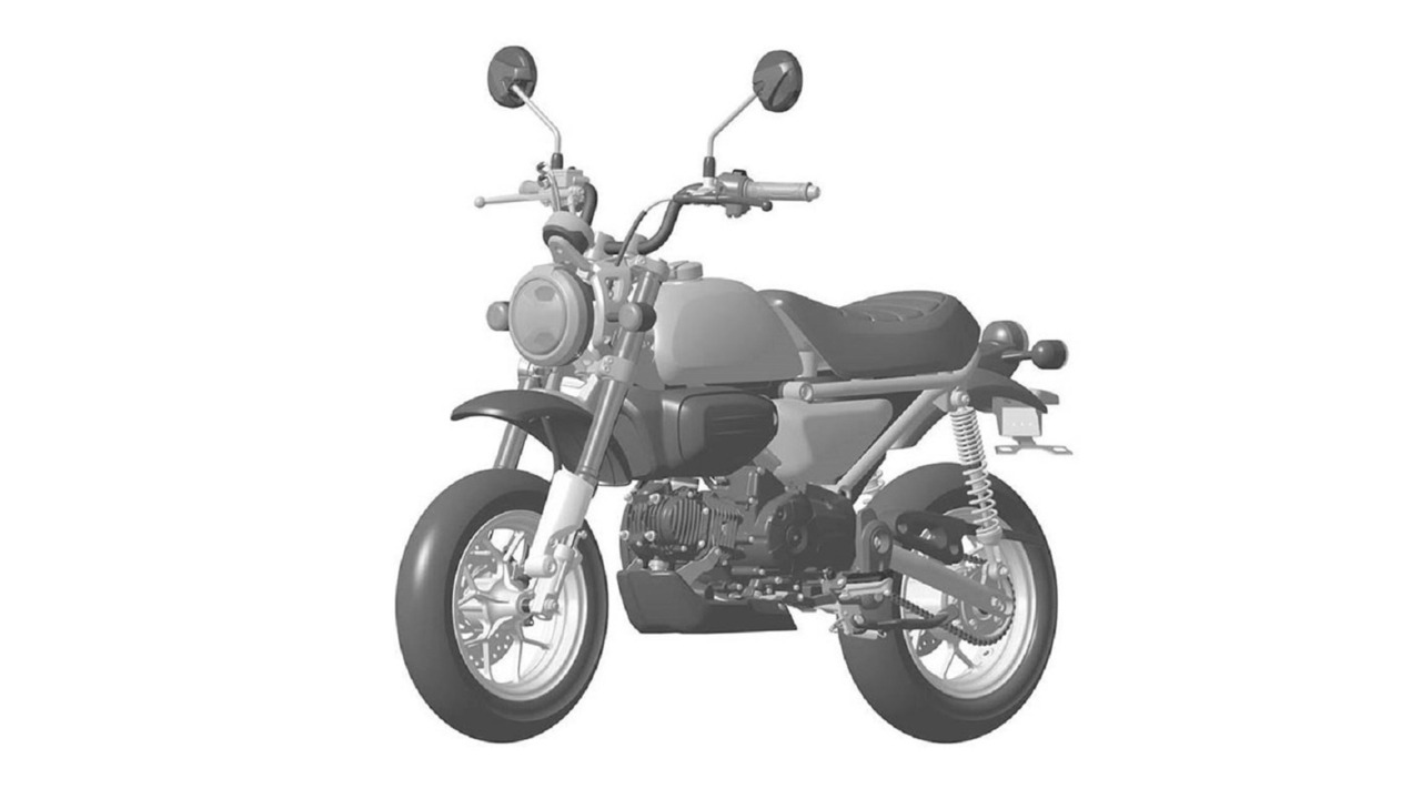 Honda 125 Monkey leaked patent drawing
