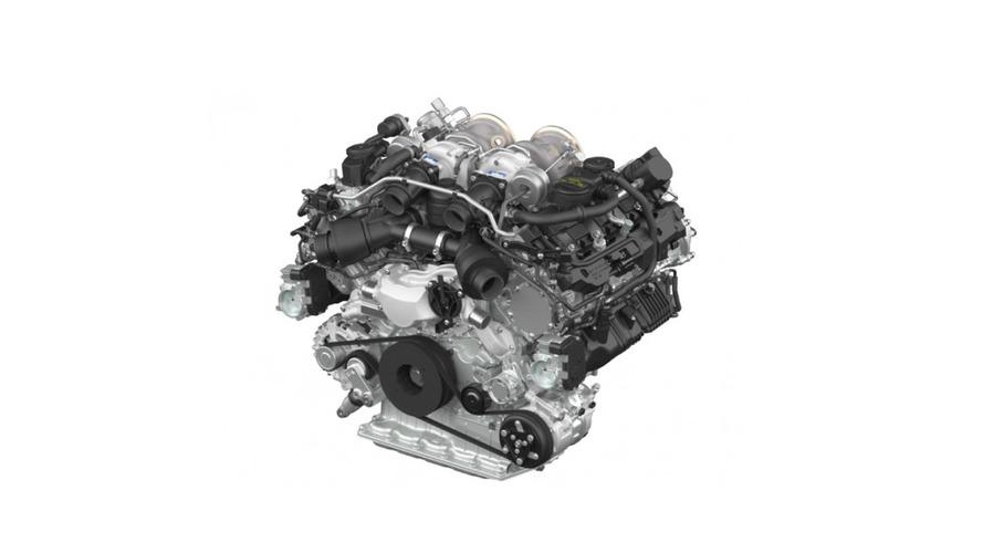 Porsche unveils new biturbo V8 engine