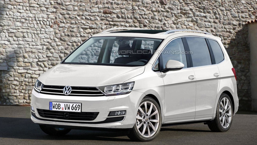 2016 Volkswagen Touran render shows what to expect