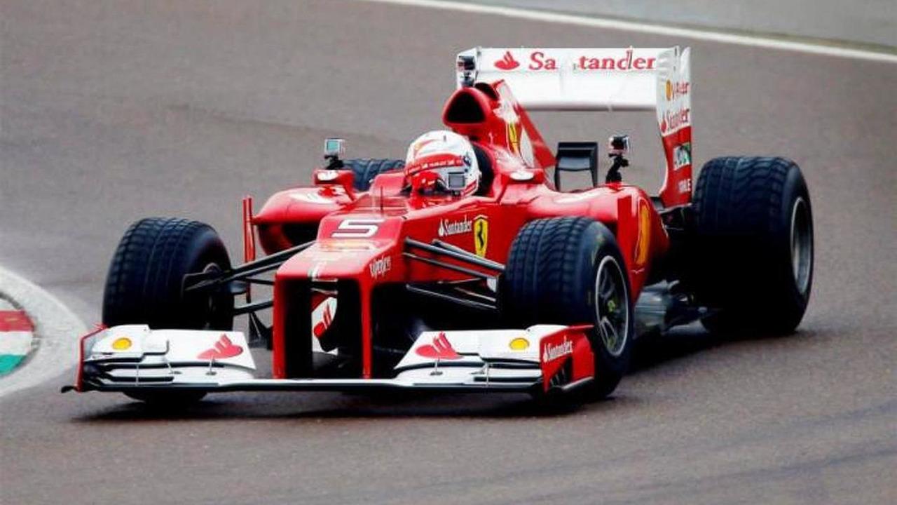 Sebastian Vettel testing with Ferrari / Official Facebook page