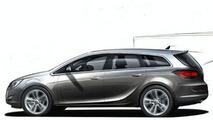 2010 Opel Astra Estate Sketch
