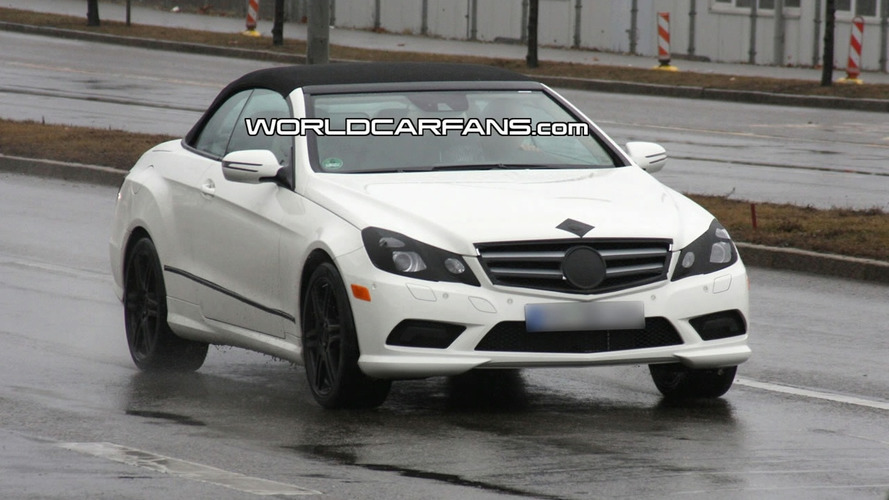 Mercedes E-Class Cabrio First Time Spied with Soft-Top