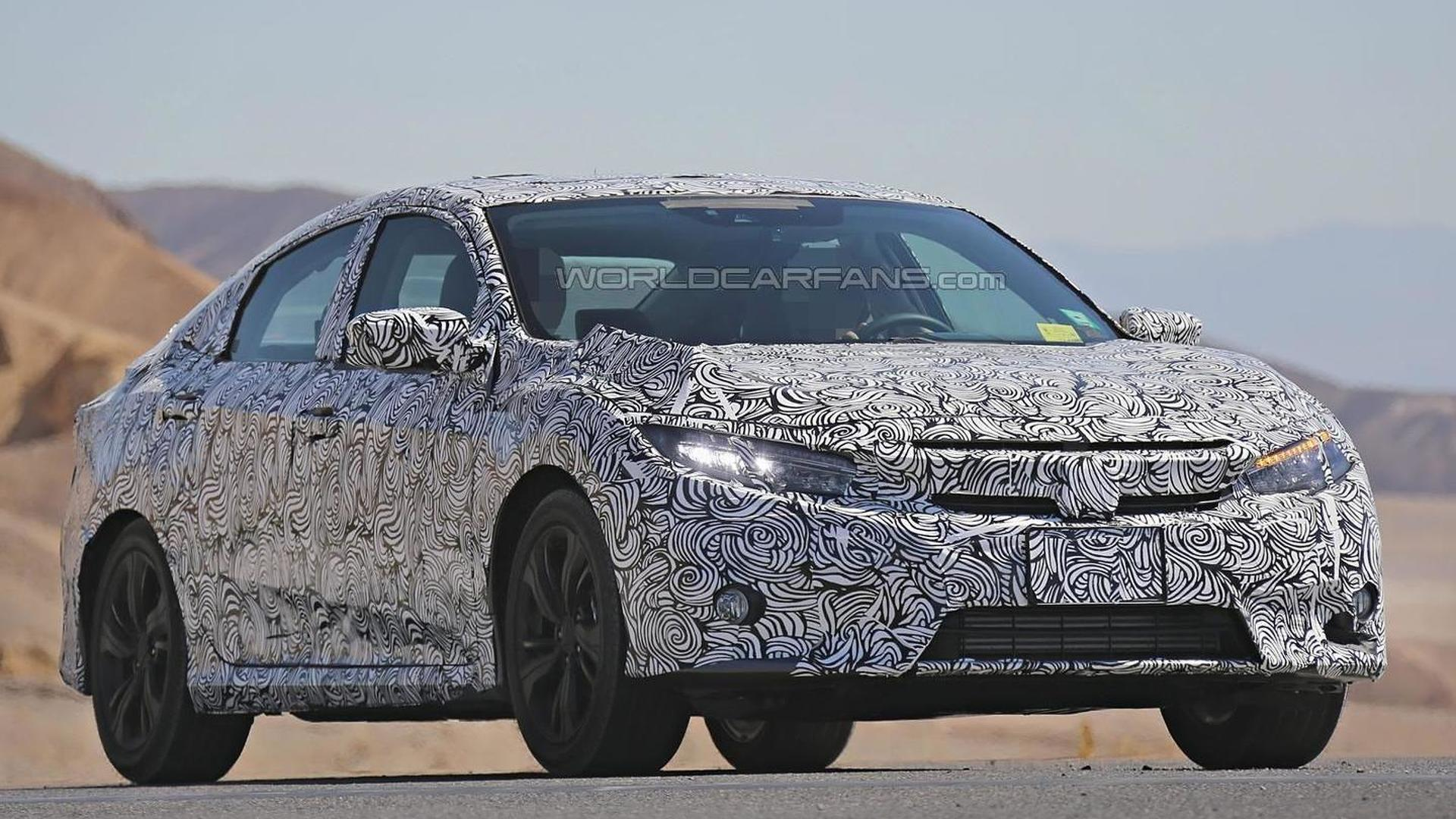 2017 Honda Civic spied inside and out with full LED headlights and heated rear seats (45 pics)