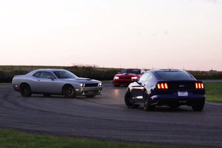 Hellcat, Z/28 and Mustang GT Battle it out For Superiority