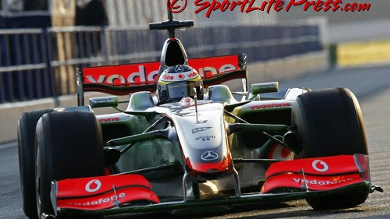 McLaren new nose test at Jerez 2008