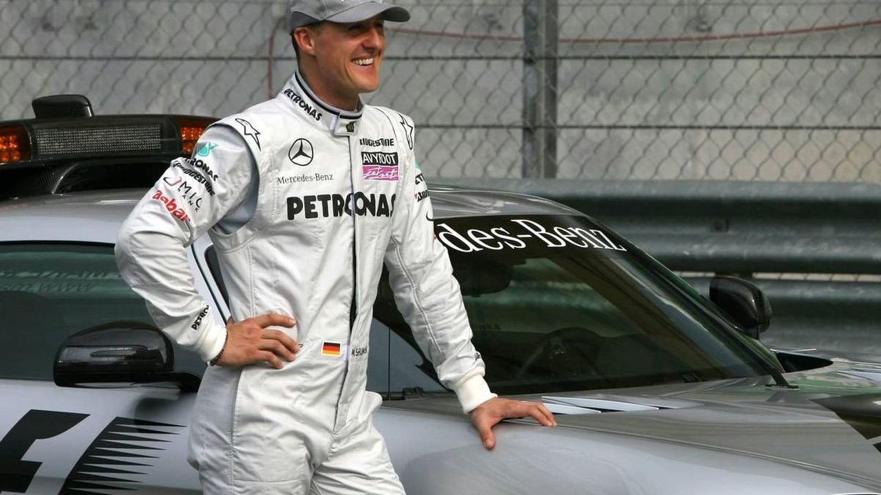Michael Schumacher (GER), Mercedes GP and the safety car, Malaysian Grand Prix, 01.04.2010 Kuala Lumpur, Malaysia