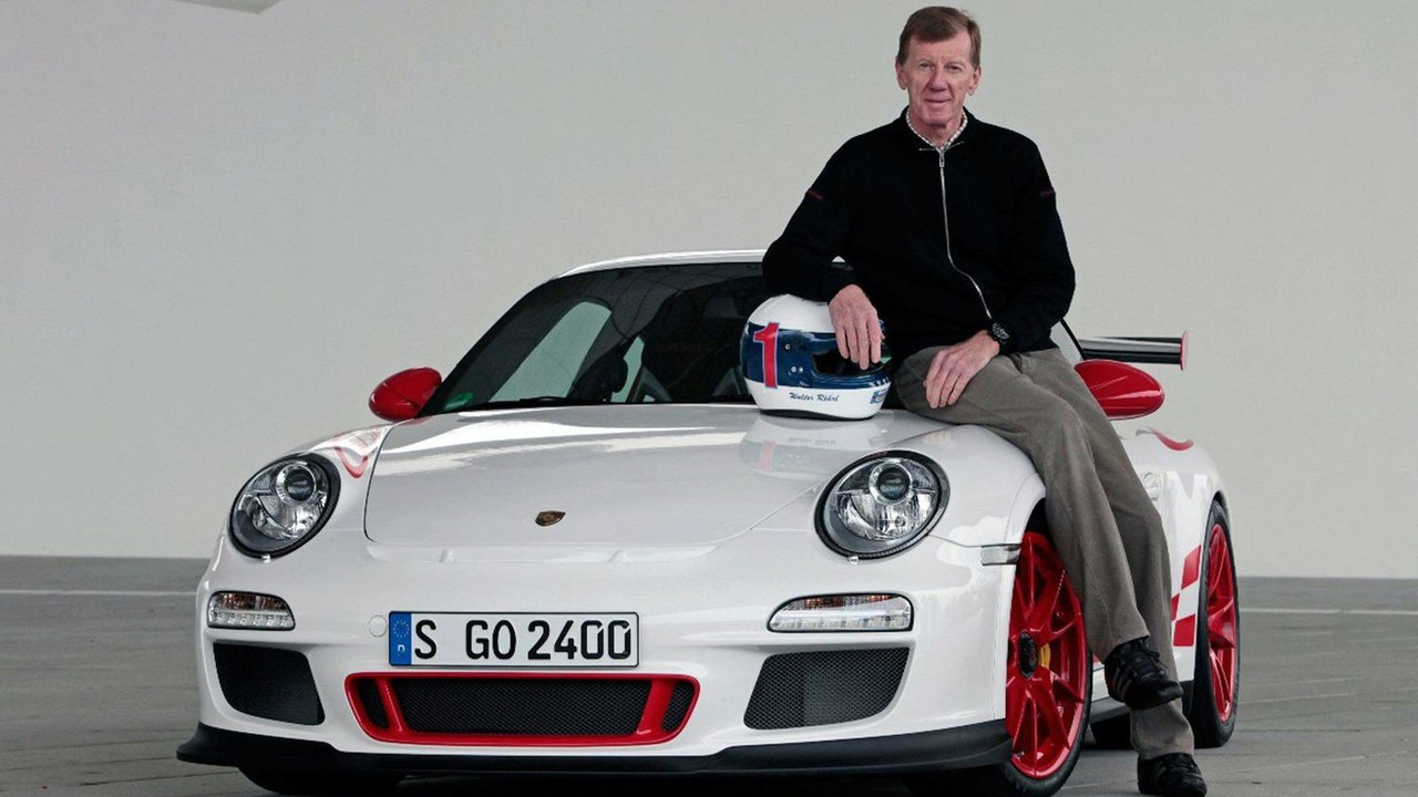 Walter Röhrl with Porsche GT3 RS - 17.12.2009