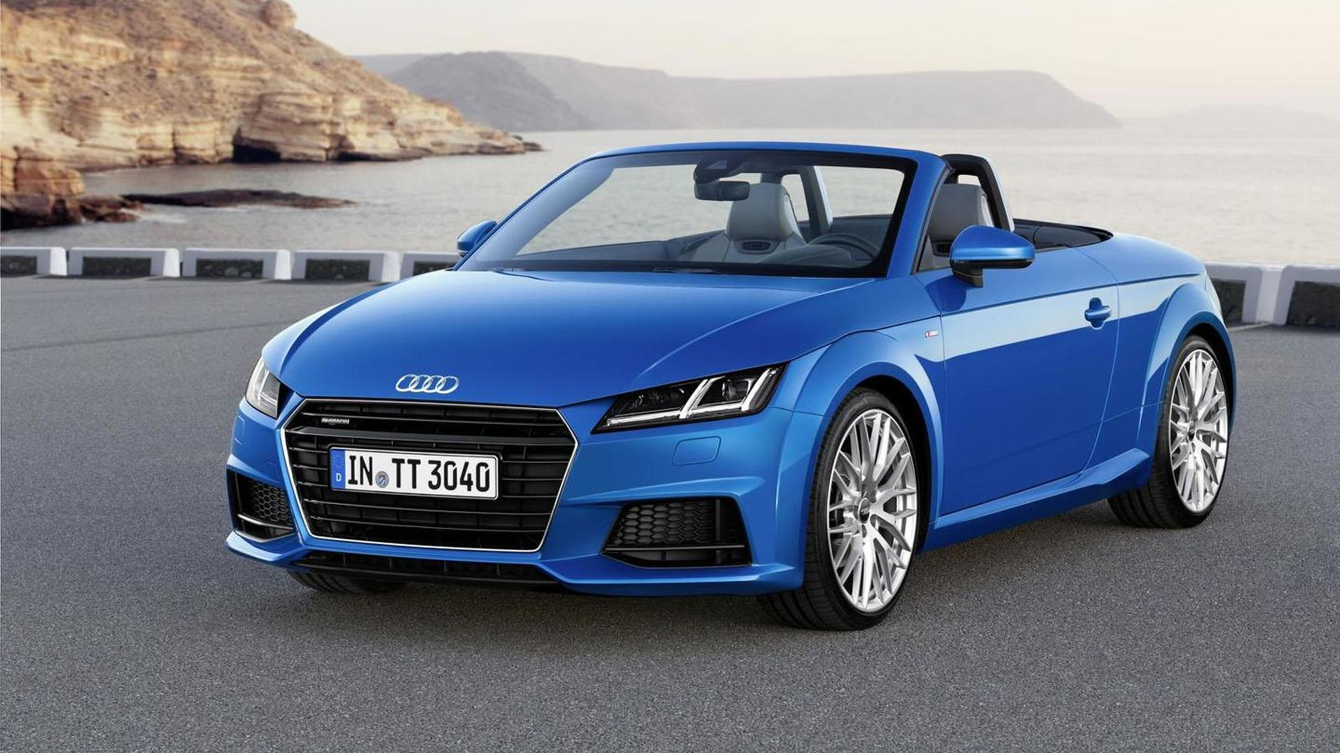Audi drops the top on the 2015 TT & TT S Roadster
