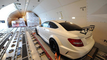 Mercedes C63 AMG Coupe Black Series arrives Sydney airport 03.03.2012