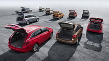 Ten generations of Opel compact station wagons