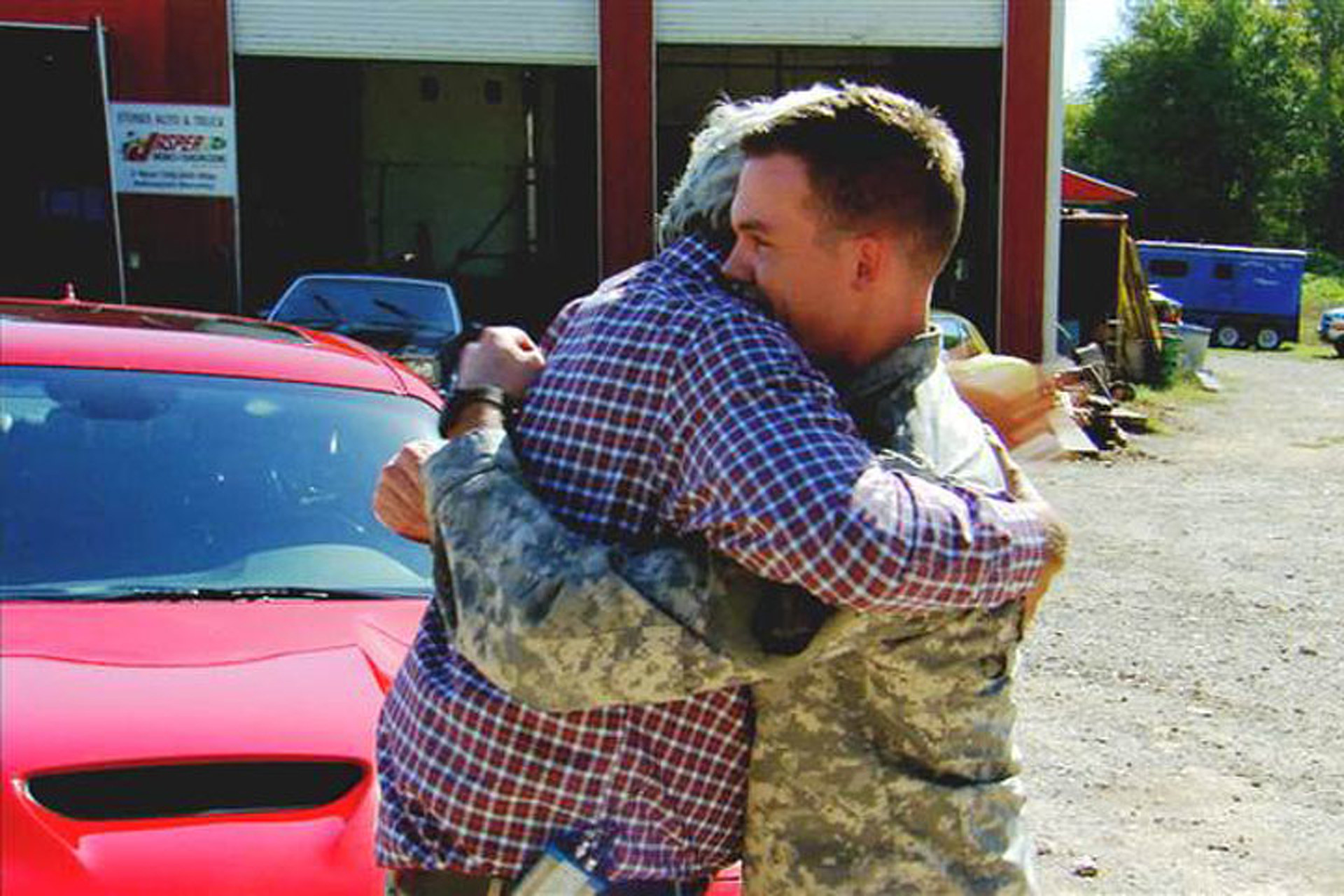 Watch Jay Leno Give A Challenger Hellcat to an Army Vet