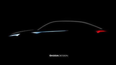 Skoda Vision E teaser likely foretells Kodiaq Coupe