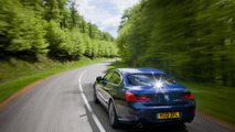 BMW 6-series Gran Coupe, RHD, on location in UK