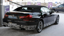 BMW M6 Cabrio spied making a pit stop