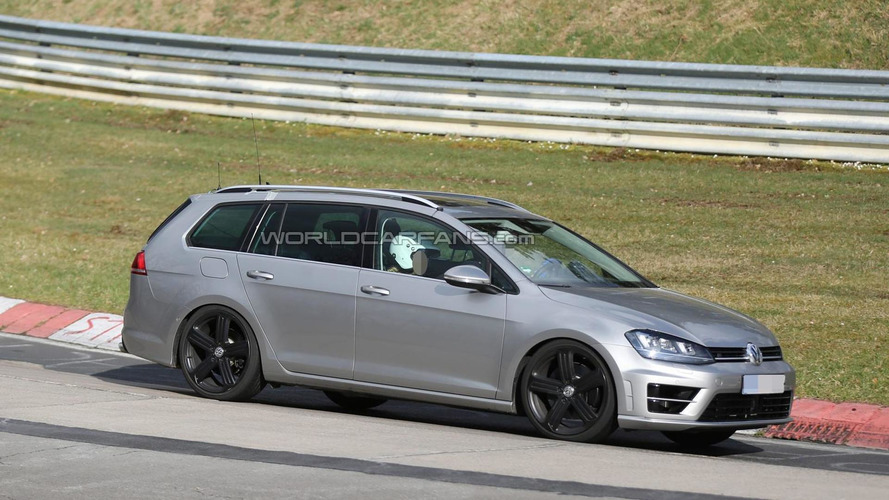 Volkswagen Golf R Variant spied flexing its muscles once again at the 'Ring