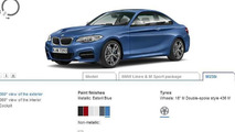 BMW 2-Series Coupe configurator 25.10.2013