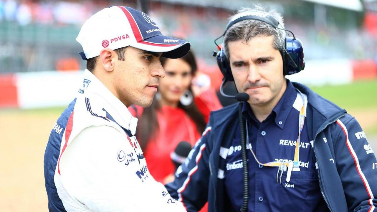 Pastor Maldonado with Xevi Pujolar 08.07.2012 British Grand Prix